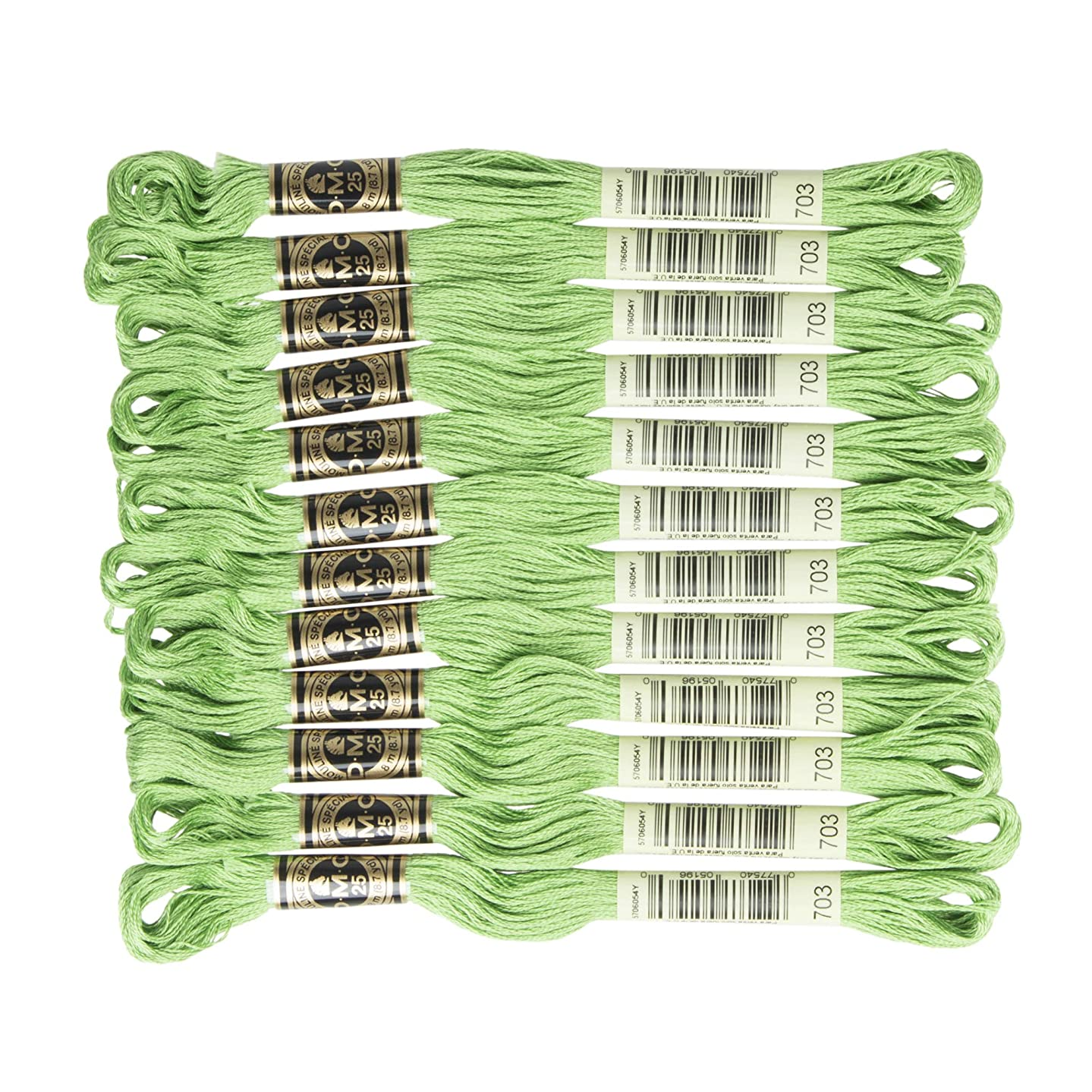 DMC 6-Strand Embroidery Cotton Floss, Chartreuse