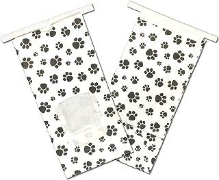 8oz. Paw Print TinTie -Pet Treat|Coffee|Tea|COOKIE BAGS w/Poly Window (50 Lot)