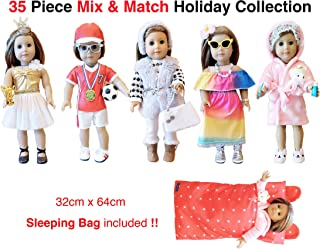 Weardoll 18inch Doll Clothes and Accessories - 35 Pieces, 18 inch Doll Accessories fits American Girl Doll Accessories