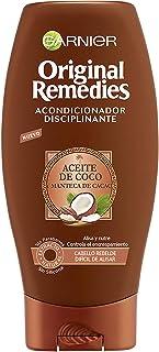Garnier Original Remedies Champú Disciplinante con Aceite de Coco y Manteca de Cacao para Pelo Rebelde y Difícil de Alisa...