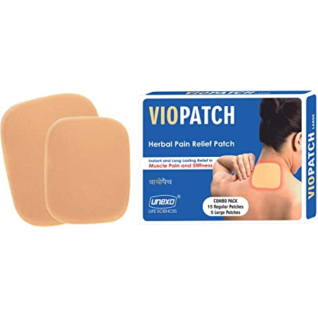Viopatch Herbal Pain Relief Patch Combo Pack - 15 Regular Patches & 5 Large Patches   Instant Relief from Muscular Pain & Joint Pain  Natural Pain Relief Patches   No Side Effects