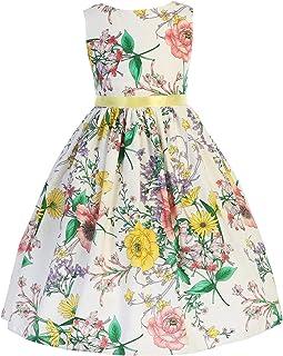 3de55679e189 iGirldress Little Girls Butterfly Burnout Organza Cotton Easter Dress USA  size2-12
