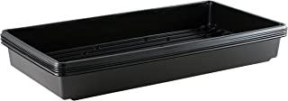 Yield Lab 10 x 20 Inch Black Plastic Propagation Tray (5 Pack) – Hydroponic, Aeroponic, Horticulture Growing Equipment