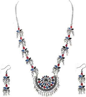 22b1684dfc3 Amazon.in: Oxidised Silver - Jewellery Sets / Women: Jewellery