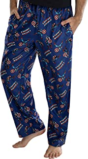 Hombre de Marvel Capitán América Retro Allover Imprimir Loungewear Pajama Pants