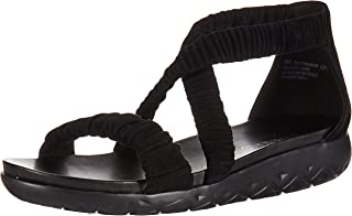 Aerosoles Women's CRAFTMANSHIP Sandal, Black Suede, 10 M US