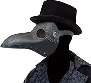 Gothic Plague Doctor Crow Mask Props Cosplay Steampunk Raven Costume w/Long Nose Beak Bird Accessories