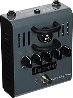Friedman Amplification Motor City Drive 12AX7 Tuber Powered Overdrive Guitar Effects Pedal
