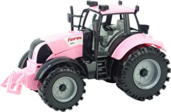 Toyland Friction Powered Farm Tractor with Opening Bonnet (Pink)