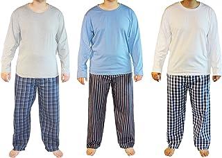 Haigman Mens Cotton Long Pyjama Lounge Wear (Pack of 3)