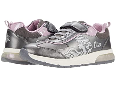 Geox Kids Spaceclub 8 (Little Kid/Big Kid) (Dark Silver/Lilac) Girl