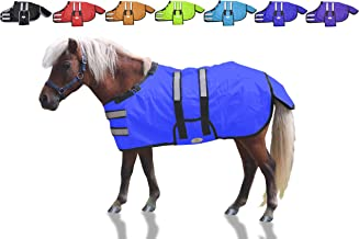 Derby Originals 600D Reflective Safety No Hardware Winter Foal Blanket with Warranty - Ripstop Breathable Waterproof Nylon Turnout Blankets for Foals & Mini Horses - Multiple Colors & Sizes