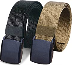 WYuZe 2 Pack Nylon Belt Outdoor Military Web Belt 1.5