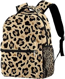 حقيبة ظهر غير رسمية حقيبة كتب للمدرسة الثانوية والجامعية للتنزه والتخييم حقيبة نهارية داكنة وبنية فاتحة