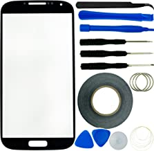 Eco-Fused Replacement Kit Compatible with Samsung Galaxy S4 Screen Including 1 Replacement Screen Glass for Samsung Galaxy S4 i9500 / Tweezers / 2mm Adhesive Tape/Tool Kit/Cloth