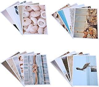 Best Paper Greetings 20 Pack Postcards Bulk Set Nautical Beach Seaside Glossy Postcards, Assorted Designs, 4 x 6 inches