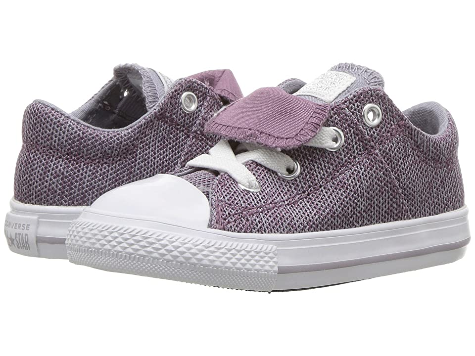 Converse Kids Chuck Taylor(r) All Star(r) Maddie Ox (Infant/Toddler) (Violet Dust/Provence Purple/White) Girl