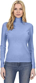 State Fusio Women's Cashmere Wool Long Sleeve Pullover Turtleneck Sweater Premium Quality