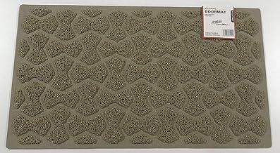 Nicoman Bow-Tie Shape Door Mat-(Use Indoor or Sheltered Outdoor), Dirt-Trapper Jet-Washable Spaghetti Doormat, Beige, 75x44cm