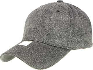Classic Faux Leather Suede Adjustable Plain Baseball Cap