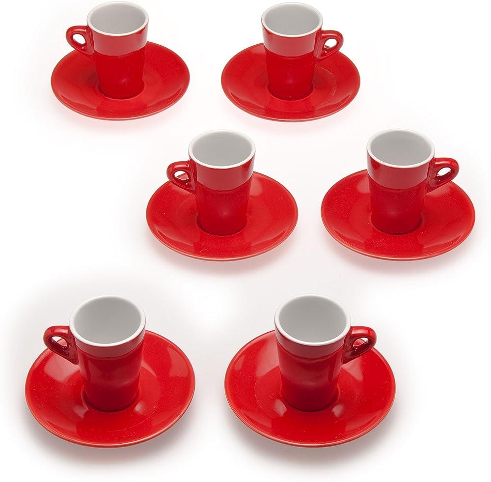 Tognana home , sei tazzine da caffè , con piattino , in porcellana colorata ET085014746