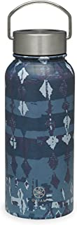 Gaiam Water Bottle Wide-Mouth Stainless Steel, Aubergine Swirl, 18 oz