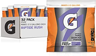 Gatorade Powder Bag Riptide Rush, 21 Ounce (Pack of 32)