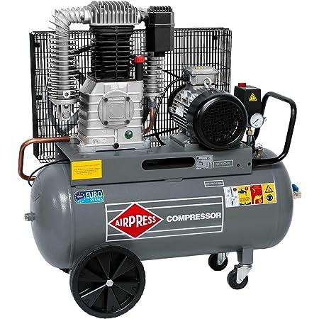 Airpress ölgeschmierter Druckluft Kompressor Hk 1000 90 7 5 Ps 5 5 Kw 11 Bar 90 Liter Kessel 400 Volt Großer Kolben Kompressor Hk 1000 90 Baumarkt