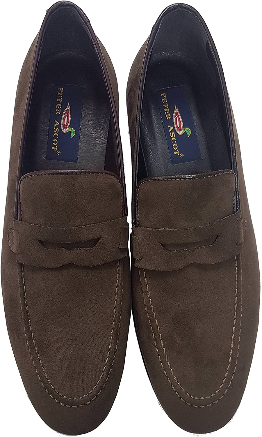 Peter Ascot Model 830, Suede shoes, Mocassin for Man, Made in