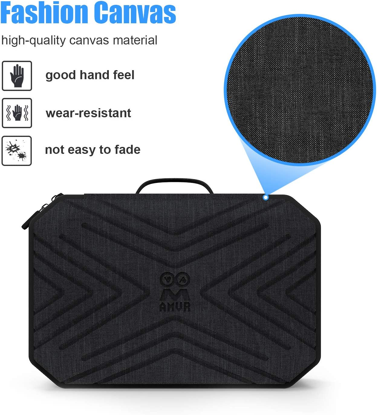 Pinson Hard Carrying Case for Oculus Quest 2 VR Gaming Headset and Controllers Accessories, Portable Fashion Travel Case with Shoulder Strap (Black)