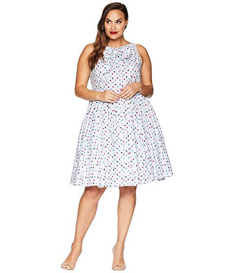 Unique Vintage Plus Size Doheny Swing Dress At Zappos