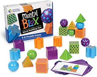 Learning Resources Mental Blox Critical Thinking Game, 20 Blocks, 40 Activity Cards, Ages 5+