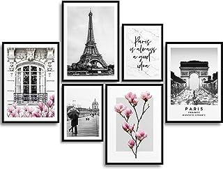 Monoko® Lot de 6 posters de salon - Ensemble d'images de qualité supérieure pour chambre à coucher - Élégants tableaux mur...