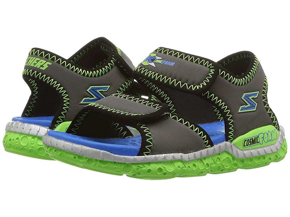 SKECHERS KIDS Astrozoid 97520L (Little Kid/Big Kid) (Charcoal/Lime) Boy