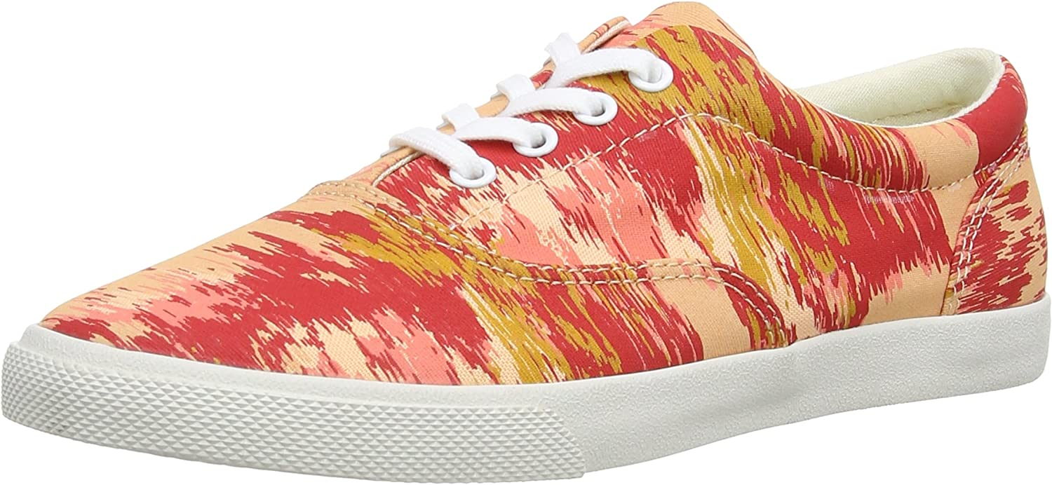 Bucketfeet Dazed Flowers Canvas Lace-Up WNS 8 Red Pink