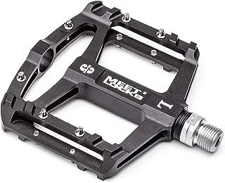 MEETLOCKS Bike Pedal CNC Aluminum Body Cr-Mo Machined 9/16 Screw Thread Spindle 3 Ultra Sealed Bearings Platform