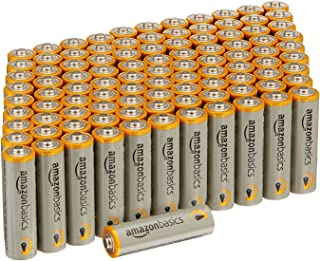 AmazonBasics AA Performance Alkaline Non-Rechargeable Batteries (100-Pack)