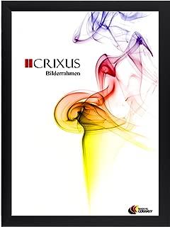 CRIXUS23 Bois Véritable Cadre D/'Image Noir Mat Photo Affiche Cadre B/_24