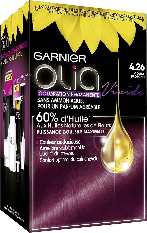Garnier Coloración permanente – Sin amoniaco – con aceites naturales de flores – Violina profunda (4.26) – Olia Vivids