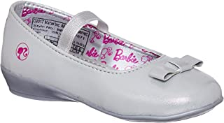 Barbie Kids Girls Silver Color Ballerina(Size -5)