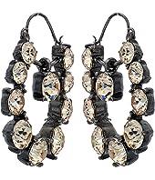 Oscar de la Renta - Runway Jewel Drop P Earrings