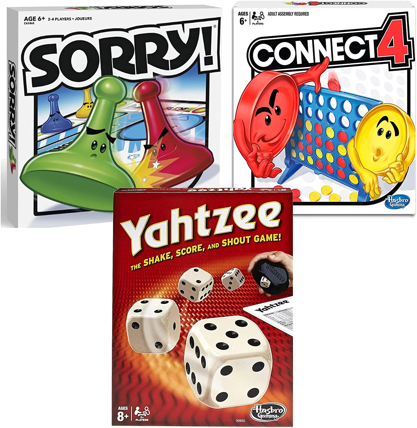 Classic Sorry Yahtzee Connect Max 48% OFF 4 In Washington Mall Bundle Family Friends