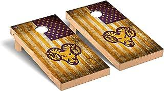 Victory Tailgate Regulation Collegiate NCAA Vintage Flag Series Cornhole Board Set - 2 Boards, 8 Bags - Multiple Teams Available