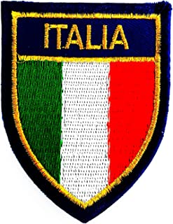 Italy Flag Italy has Official Name Republic Italy 2.5X3 in MEGADEE Patch Cartoon Kids Symbol DIY Iron on Patch Iron-On Des...