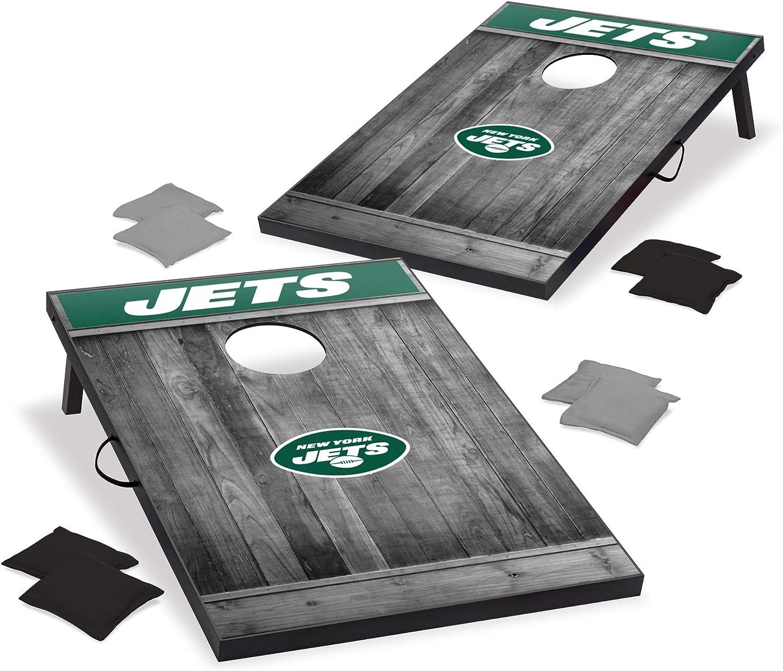 Outlet sale feature Wild Sports 2'x3' MDF Wood NFL Cornhole Set Design Grey Max 46% OFF -