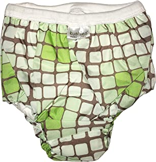 Kushies Potty Taffeta Training Pants - Large - Crazy Circles Green