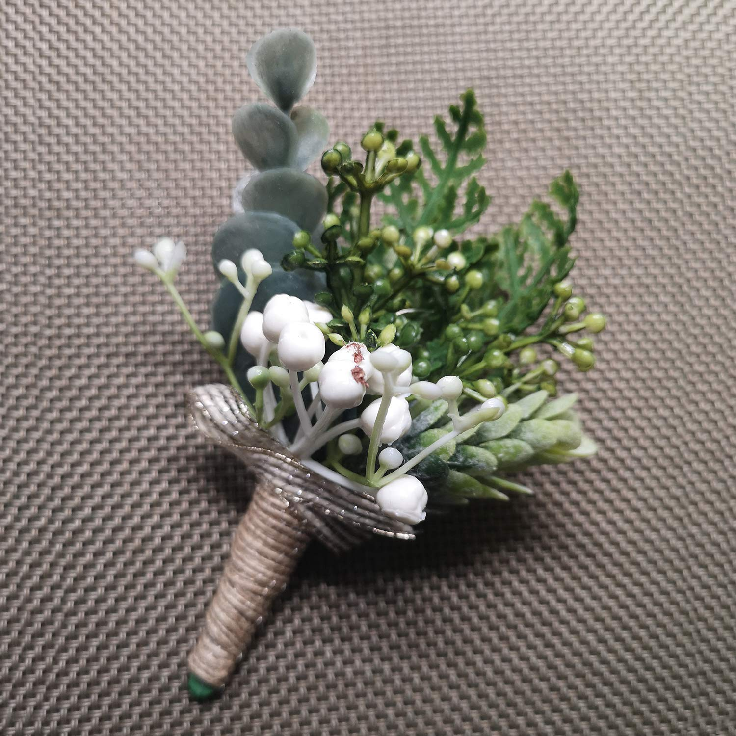 Artificial Wedding Silk Flowers Save Same day shipping money Boutonniere Ber Men Greenery for