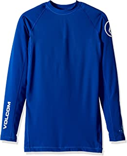 Volcom mens Volcom Men's Lido Solid Long Sleeve Rashguard Shirt Rash Guard Shirt