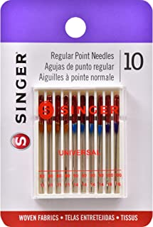 SINGER 4790 Universal Regular Point Sewing Machine Needle, Assorted Sizes, 10-Count
