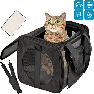 Moyeno Cat Carriers Dog Carrier TSA Airline Approved Pet Carrier for Small Medium Cats Dogs Puppies Bunny of 15lbs, Small Dog Soft Sided Carrier Collapsible Puppy Carrier